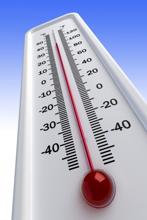 hot temperature: thermometer