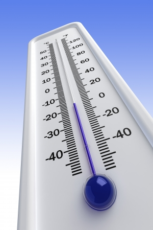thermometer, cold Stock Photo - 17550284