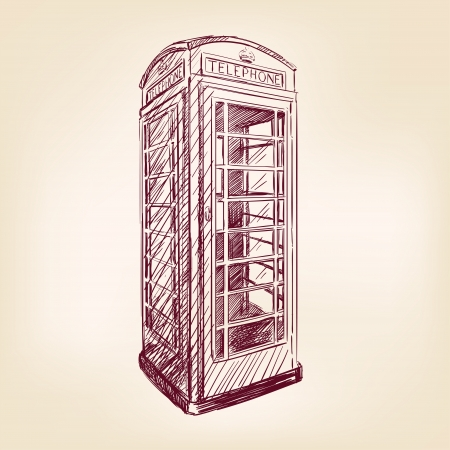 telephone booth: London pay phone