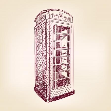 cabina telefonica: Londres pago tel�fono Vectores
