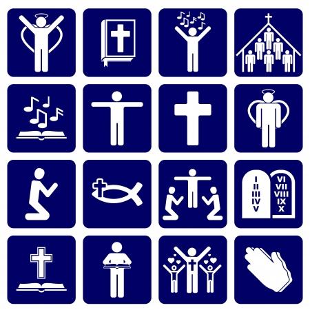 christian angel: iconos de los religiosos