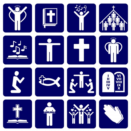 christian symbol: icons of religious