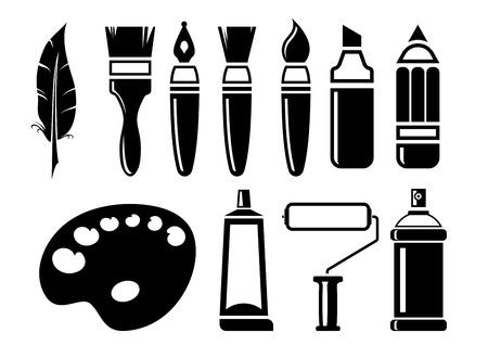 paint tube: art Icons set Illustration
