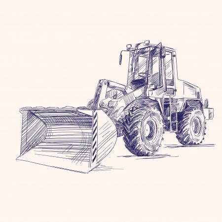 machine à chargeur pelle bulldozer
