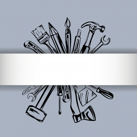 tools vector set Stock Vector - 18244399