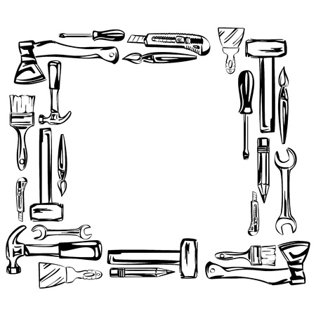 furnish: tools vector set