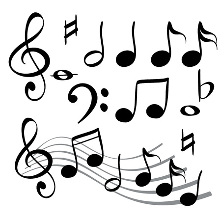 musical notes: music note icon  vector  illustration Illustration