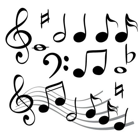 clave de sol: nota de la música icono de ilustración vectorial