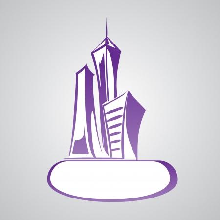 Modern  cityscape logo Vector
