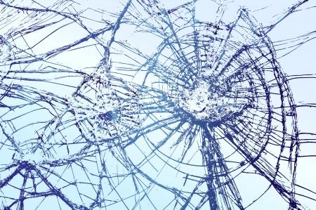 壊れたガラスのイラストレーション  イラスト・ベクター素材