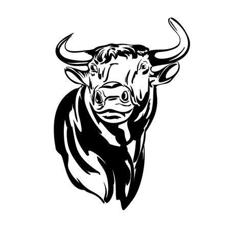 bull's eye: bull vector llustration realistic sketch Illustration