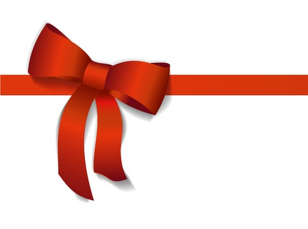 ribbons and bows: Red gift bows with ribbons. Vector Illustration.