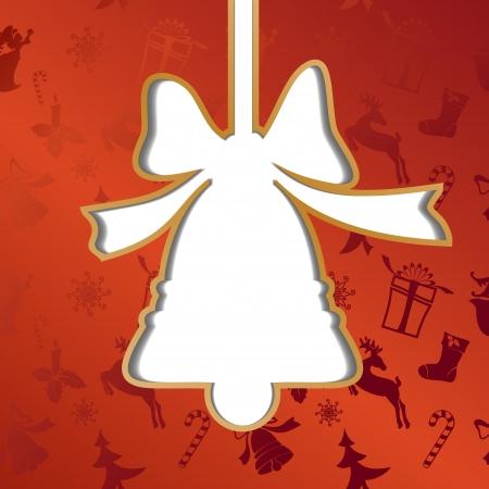Christmas bell, festive background vector llustration Vector