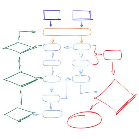 hand-drawn marker infographics   vector illustration