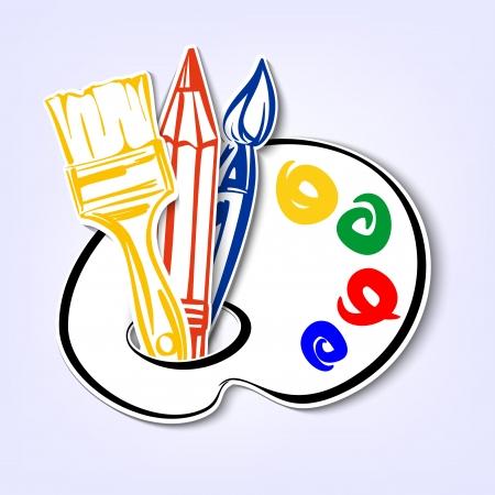 art Icons set  A vector illustration Vector