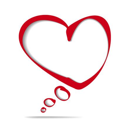 heart frame bubble cartoon vector illustration Stock Vector - 24541044