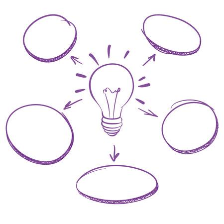 brain storming: hand-drawn marker infographics   vector illustration