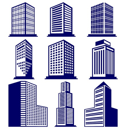 Buildings abstract icon set vector  illustration Фото со стока - 29266654