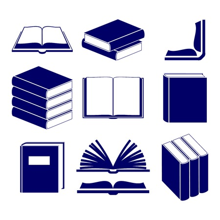 Book icons set  vector  illustration Vector