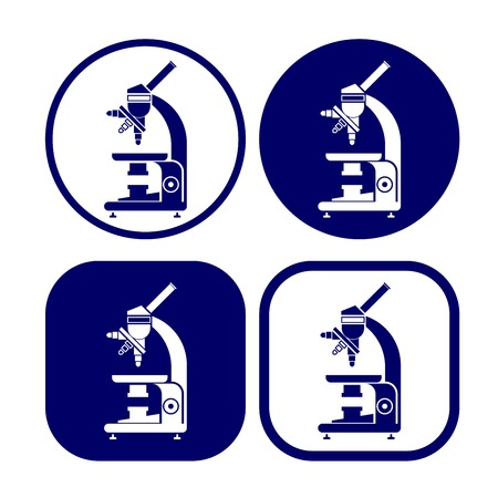 microscope icon set  vector  illustration Vector