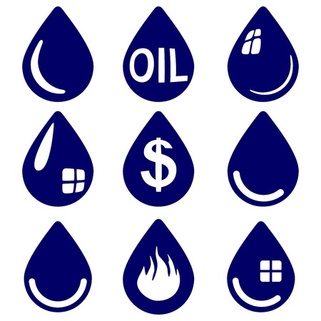 drop  - icon  set symbol vector  illustration Vector