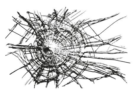 壊れたガラスのベクトル
