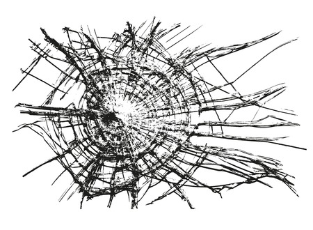 shattered: Broken Glass Vector