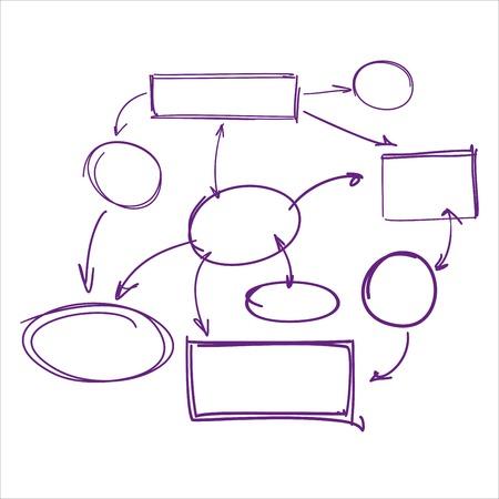 deletion: hand-drawn marker infographics   vector illustration