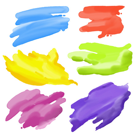 colorful Abstract Watercolor elements for design. Vector illustration Ilustração