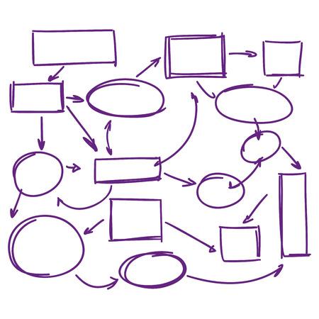 deletion: hand-drawn marker infographics   business plan vector illustration