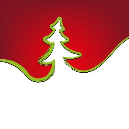 strokes: christmas background christmas-tree strokes symbol drawn vector illustration