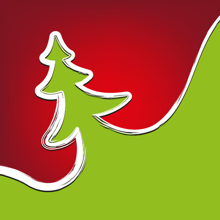 christmastree: christmas background christmas-tree strokes symbol drawn vector illustration
