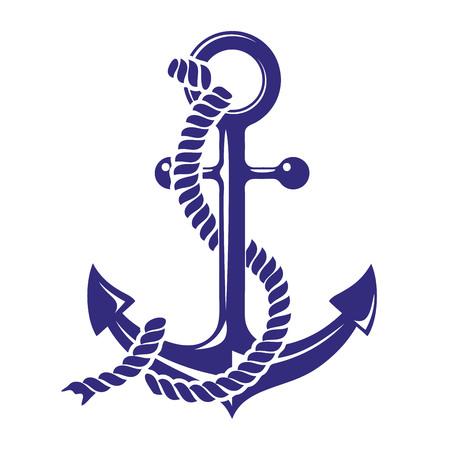 Anchor stenci symbolt vector illustration isolated on white background Illustration