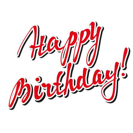 finesse: Happy Birthday Brush Script Style Hand lettering- handmade calligraphy, vector Illustration