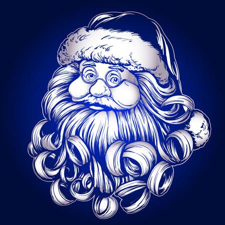 Santa Claus, Christmas symbol hand drawn vector llustration sketch