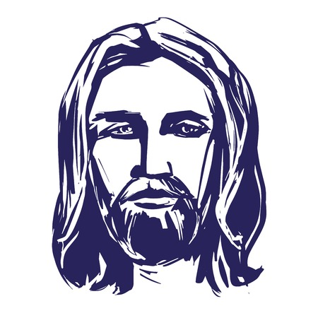 Jesus Christ, the Son of God, symbol of Christianity hand drawn vector illustration sketch