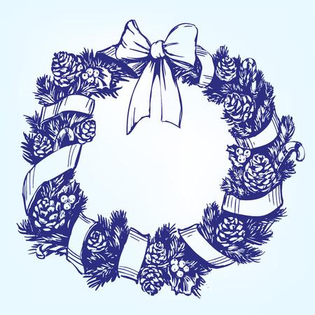 Christmas wreath vector Stock Vector - 90191319