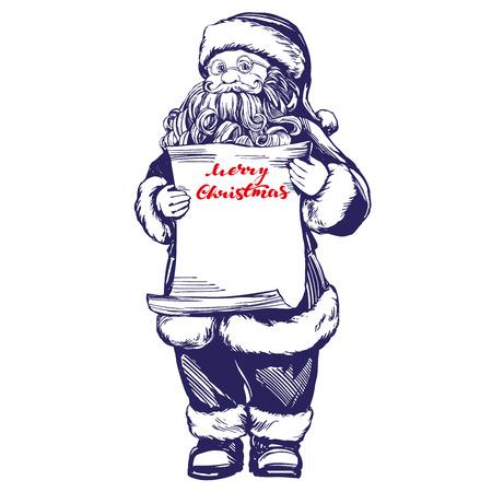 Santa Claus hand drawn vector Illustration