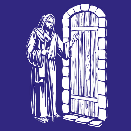 Man knocking on the door.