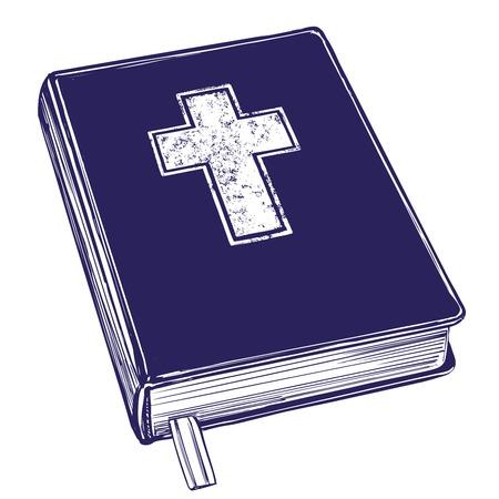 聖書、福音、キリスト教の教義、キリスト教の象徴。手描きベクトルイラストスケッチ。