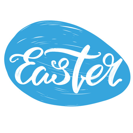 Easter Egg Holiday Religious Calligraphic Text Symbol Of
