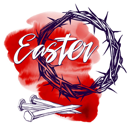 Easter religious symbol of Christianity hand drawn vector illustration sketch