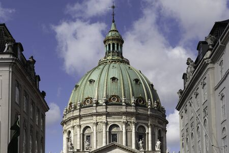 Frederik's Church, popularly known as The Marble Church (Marmorkirken) for its rococo architecture, Evangelical Lutheran church in Copenhagen, Denmark