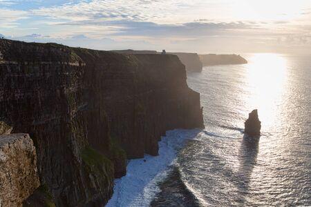 Cliffs of Moher at sunset, Ireland, UK