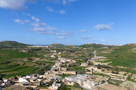 Green fields and blue sky of Gozo, Malta