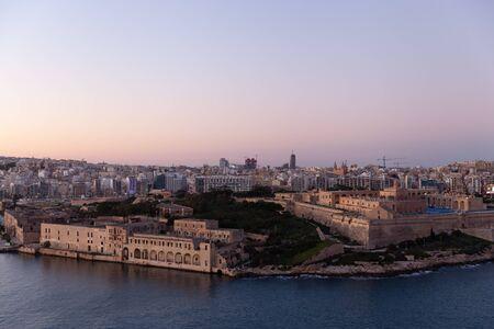 Fort Manoel on sunset, Malta Stockfoto