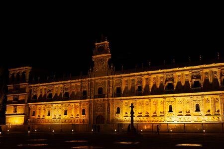 Leon, Spain - 9 December 2019: Convento de San Marcos at night