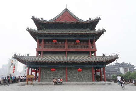 Xi'an, China - 17 June 2011: Andingmen or Ciy wall gate
