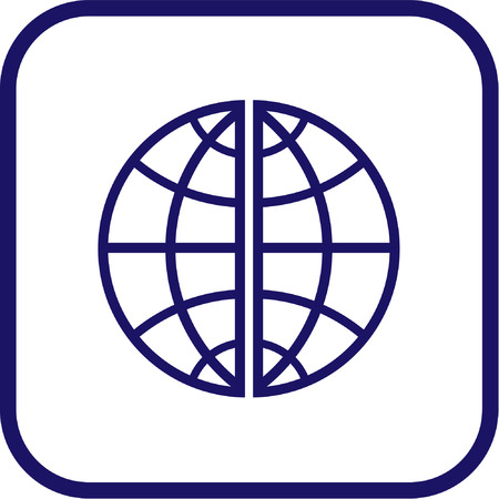 Vector globe icon. Simply change. Vector