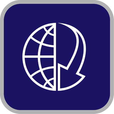Vector globe and array icon. Simply change. Vector